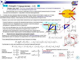 Теорема о трех силах – Если тело, под действием трех непараллельных сил находитс