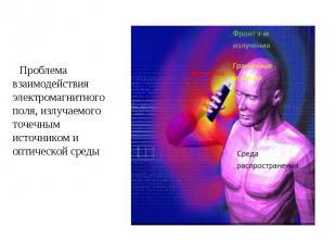 Проблема взаимодействия электромагнитного поля, излучаемого точечным источником