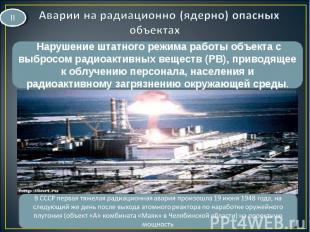 Нарушение штатного режима работы объекта с выбросом радиоактивных веществ (РВ),