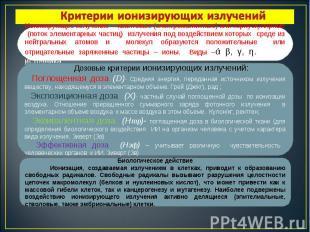 Ионизирующее излучение —квантовые (электромагнитные) или корпускулярные (поток э