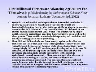 How Millions of Farmers are Advancing Agriculture For Themselves is published to