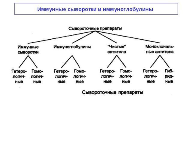 Иммунные сыворотки и иммуноглобулины