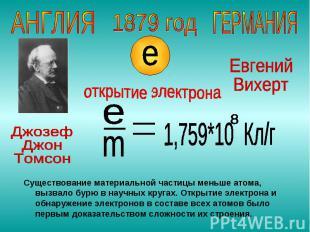 Существование материальной частицы меньше атома, вызвало бурю в научных кругах.