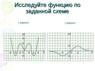 Исследуйте функцию по заданной схеме 1 вариант 2 вариант