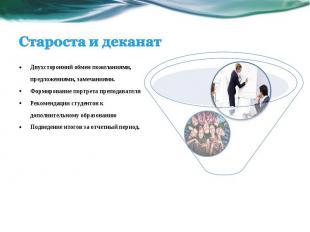 Двухсторонний обмен пожеланиями, предложениями, замечаниями. Формирование портре