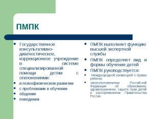 ПМПК Государственное консультативно-диагностическое, коррекционное учреждение в