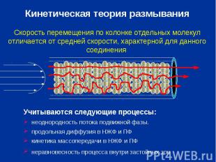 Кинетическая теория размывания Скорость перемещения по колонке отдельных молекул