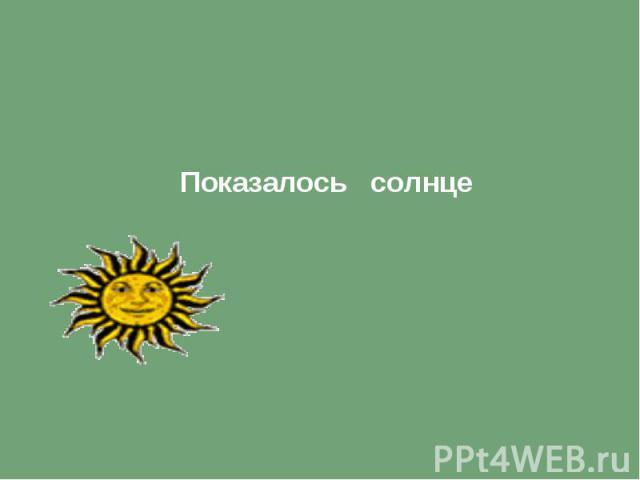 Показалось солнце