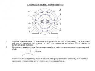 Главный полюс к сердечнику якоря имеет большее пространственное развитие для обл