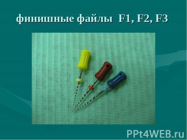 финишные файлы F1, F2, F3