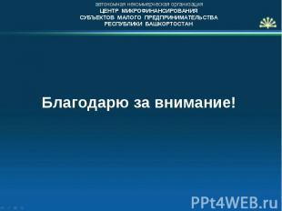 автономная некоммерческая организация ЦЕНТР МИКРОФИНАНСИРОВАНИЯ СУБЪЕКТОВ МАЛОГО