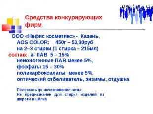 Средства конкурирующих фирм ООО «Нефис косметикс» - Казань, AOS COLOR: 450г – 53