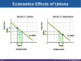Wn Wage Rate Sector 1: Union Employment Wage Rate Sector 2: Nonunion Employment