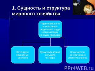Территориальное и отраслевое разделение труда: специализация на видах продукции