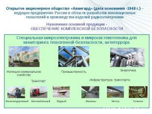 Специальная микроэлектроника и микросистемотехника для мониторинга техногенной б