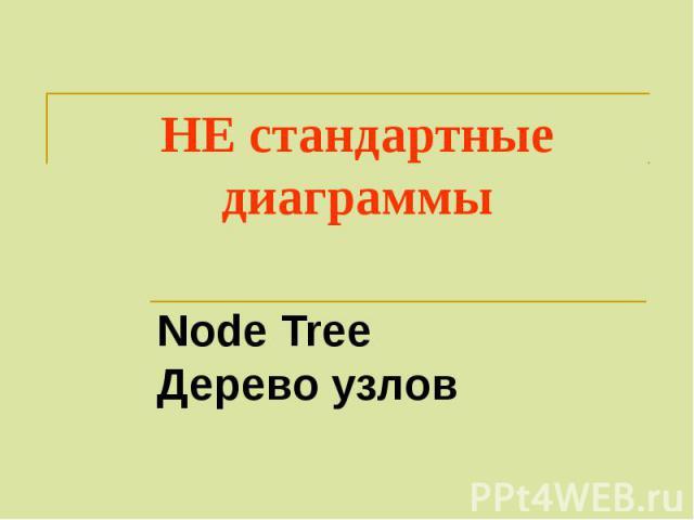 НЕ стандартные диаграммы Node Tree Дерево узлов