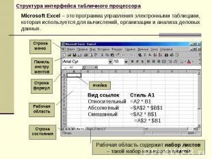 Microsoft Excel – это программа управления электронными таблицами, которая испол