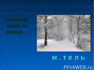 Сильный ветер со снегом… м . т е л ь