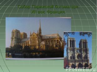 Собор Парижской богоматери. XII век. Франция.