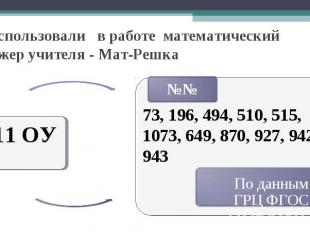 Не использовали в работе математический тренажер учителя - Мат-Решка 11 ОУ 73, 1