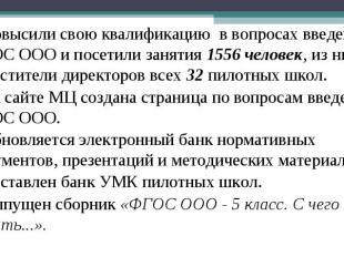 Повысили свою квалификацию в вопросах введения ФГОС ООО и посетили занятия 1556