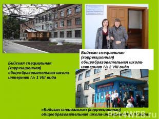 Бийская специальная (коррекционная) общеобразовательная школа-интернат № 2 VIII