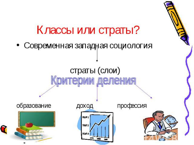 Классы или страты? Современная западная социология страты (слои) образование доход профессия
