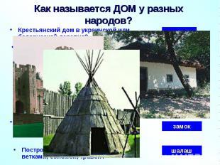 Крестьянский дом в украинской или белорусской деревне? Как называется ДОМ у разн