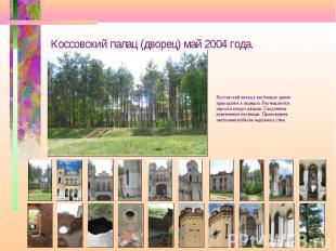 Коссовский палац (дворец) май 2004 года. Коссовский палац в настоящее время прив