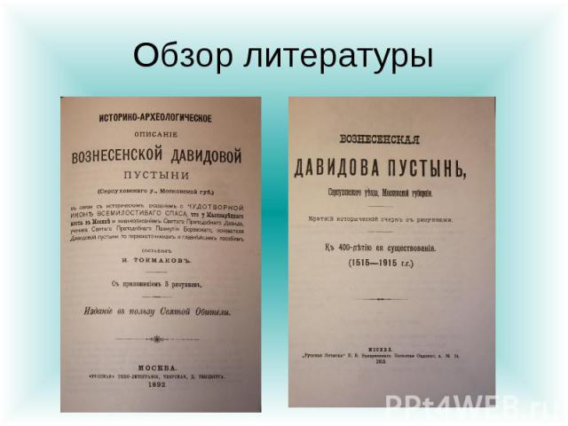 Обзор литературы