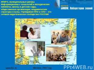 www.lbz.ru Москва, 2007 год ИПКРО, муниципальные центры Информационных технологи