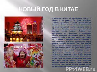 Китайский Новый год празднуется между 17 января и 19 февраля, во время новолуния