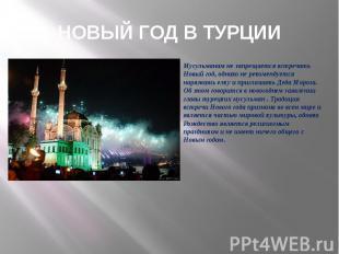 Мусульманам не запрещается встречать Новый год, однако не рекомендуется наряжать