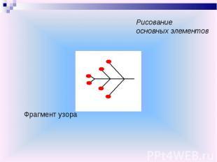 Рисование основных элементовФрагмент узора