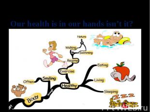 Our health is in our hands isn't it?