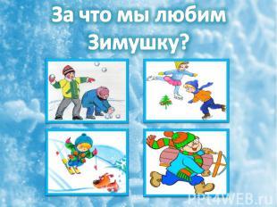 За что мы любим Зимушку?