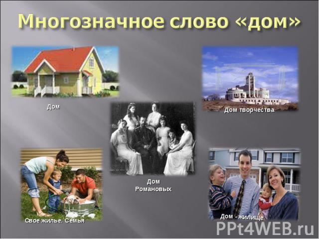 Многозначное слово «дом»
