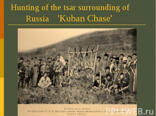 Hunting of the tsar surrounding of Russia 'Kuban Chase'
