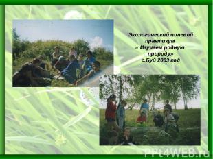 Экологический полевой практикум « Изучаем родную природу»с.Буй 2003 год