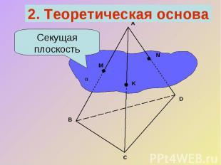 2. Теоретическая основаСекущая плоскость