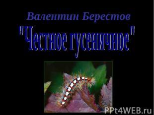 """""""Честное гусеничное"""""""