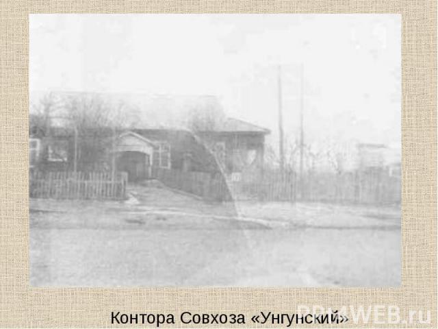Контора Совхоза «Унгунский»