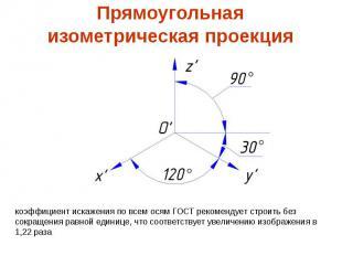 Прямоугольнаяизометрическая проекция