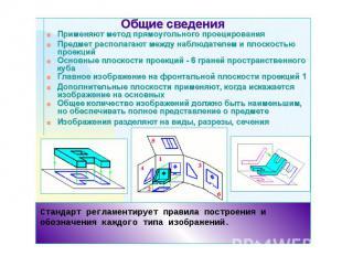 Стандарт регламентирует правила построения и обозначения каждого типа изображени