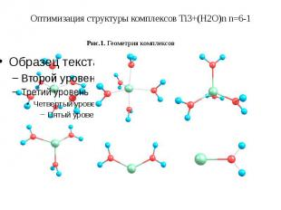 Оптимизация структуры комплексов Ti3+(H2O)n n=6-1
