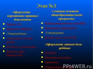 -Оформление нормативно-правовых документов: -Оформление нормативно-правовых доку