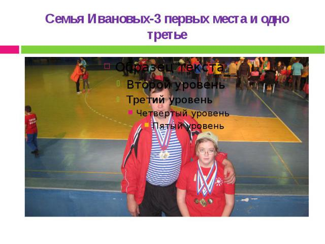 Семья Ивановых-3 первых места и одно третье