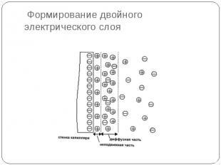 Формирование двойного электрического слоя