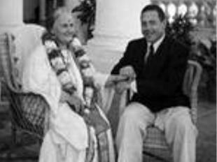 М. Монтессори с сыном Марио в Индии