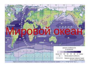 Мировой океан.